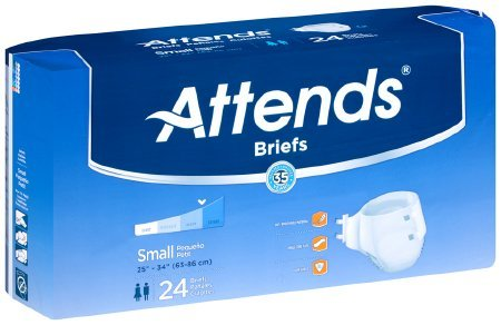 Attends BRBX15 Extra Absorbent Breathable Briefs-Small-96/Case, Multicolor