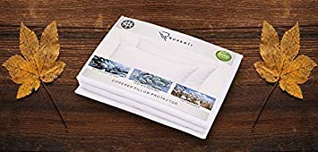 ZainiTex Inc Bed Bugs and Allergy Control Pillow Cases Ruvanti 4 Pack Zippered Pillow Protectors Hypoallergenic King 20 x 36 400 Thread Count Cotton Satin Pillowcase Dust Mite Pillow Covers