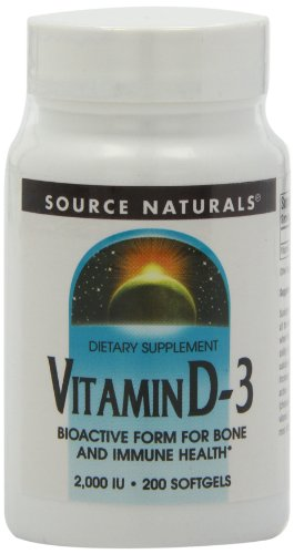 Source Naturals Vitamin D-3 2000IU Bioactive Form - 200 Capsules