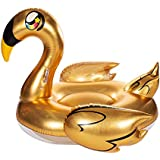 Poolcandy Gold Collection Giant Golden Goose Raft - Extra Large Inflatable Gold Goose Pool & Beach Float