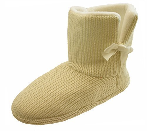 Lined Boots Faux Womens Ankle Surf Fur Boot 4 Shoes Slippers Ladies Cream Slipper wwg4Sxq