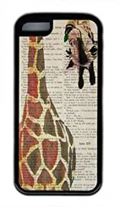 meilz aiaiGiraffe design customized Iphone 5C TPU Black Casemeilz aiai