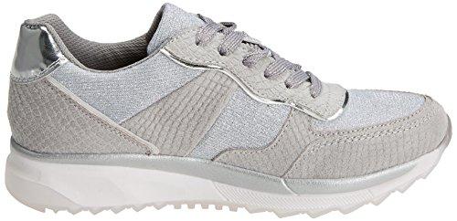 Damen 47792 Sneakers Silber Platinium XTI Xdw1f6qxpX
