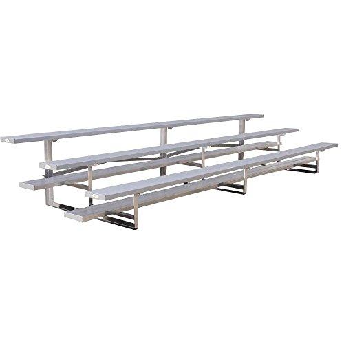 Ultra Play 15 ft. 3-Row Low Rise Aluminum Bleacher Frame (Low Bleacher Rise)