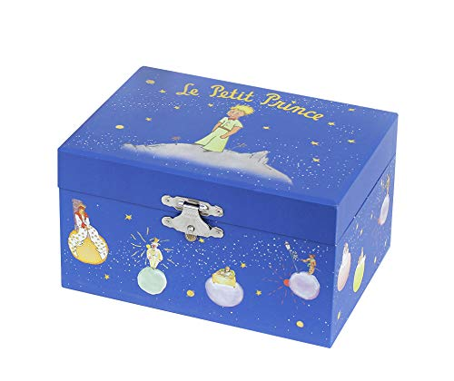 Trousselier - Little Prince - Photoluminescent Music Box - Glow in The Dark - Dark Blue (Music Box Blue)