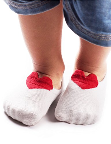 HaiSea Lovely big eyes Newborn Socks Unisex-Baby Newborn Baby Socks,Non-Skid 6 Pair Pack Baby Socks