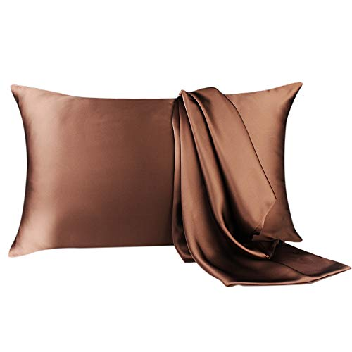 YANIBEST Silk Pillowcase for Hair and Skin, 19 Momme 100% Pure Natural Mulberry Silk Pillowcase King Queen Standard Size, Pillow Cases Cover with Hidden Zipper ()