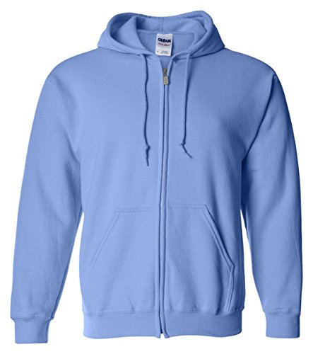 �Gildan Adult Heavy Blend� Full-Zip Hooded Sweatshirt (Carolina Blue) (Cotton Hooded Sport Shirt)