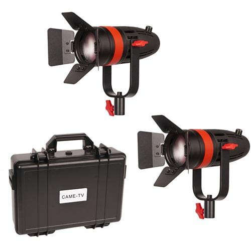 CAME-TV Boltzen 55W Bi-Color Fresnel Focusable LED 2-Light Kit with Hard Carrying Case