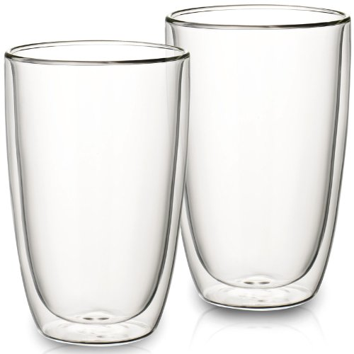 VILLEROY & BOCH ARTESANO HOT BEVERAGES Glass tumbler - extra large - set of 2 (Boch And Villeroy Artesano)