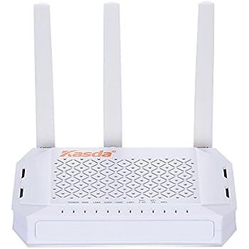 Amazon com: Kasda AC1200 Dual Band Gigabit WiFi Router, Long Range