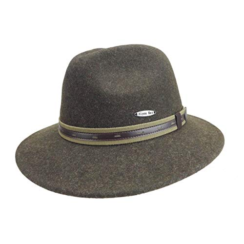 Australian Outback Akubra Snowy River Wide Brim Quality 100% Wool Classic Mens Boonie Hat by E.H.G. |Large| Men Hat or Women Hat Brown - Indiana Classic Pique