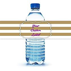 "Personalized Water Bottle Label 8""X2"""