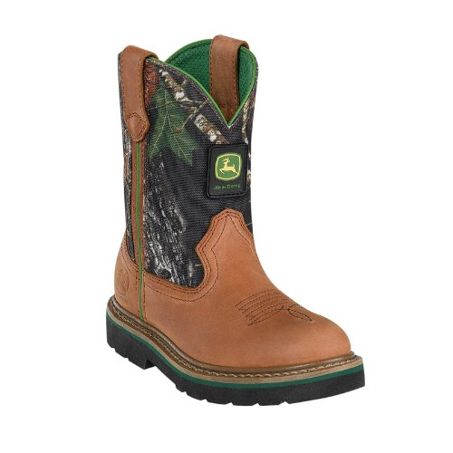 (John Deere 2188 Western Boot (Toddler/Little Kid),Tan/Camouflage,1 M US Little Kid)