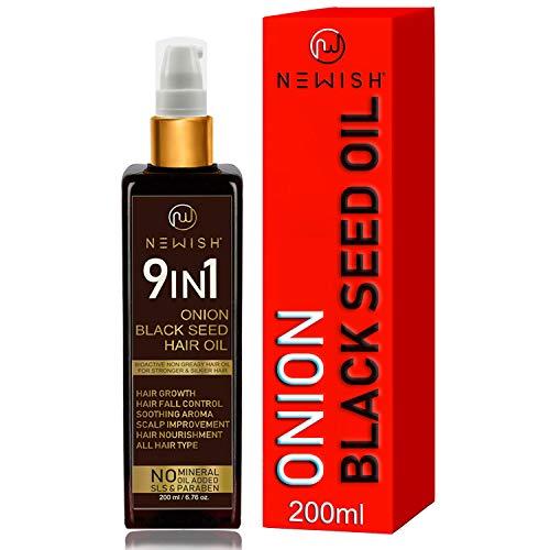 Newish® Onion Hair Oil for Hair Growth, Anti Dandruff & Hair fall Control 200ml