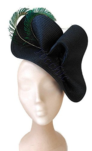 Navy Blue Hat Blue Wedding Hat Peacock Fascinators Blue Navy Blue