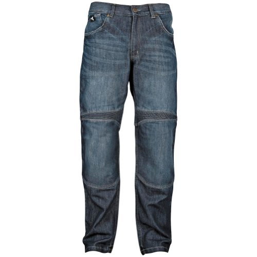 Speed and Strength Rage with the Machine Men's Denim Street Racing Motorcycle Pants - Blue / Size 34x32