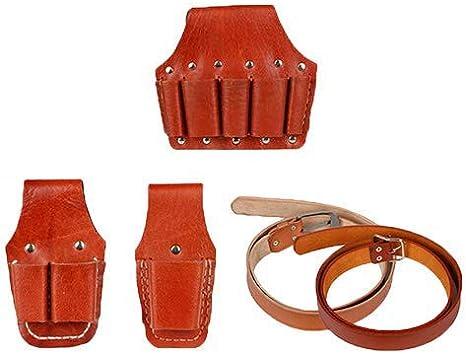 Combo de cinturón y bolsa de electricista – electricistas pesados herramienta cinturón diseñado alicates de cuero Set electricista Pocket Kit pequeño hardware kit llave Set electricista kit