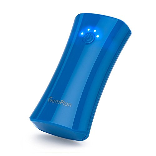 Portable Charger, Gempion Smart Power 6000mAh External Battery Pack Backup Power Bank for iPhone 7 6s 6 Plus 5S 5C iPad Mini, Samsung Galaxy S7 S6 S5 Note, Nexus, HTC, PS Vita, Gopro and more (Blue)