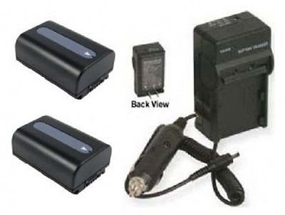TWO 2x Batteries + Charger for Sony HDRCX700, Sony HDRCX700V, Sony HDRCX360, Sony HDRPJ30V