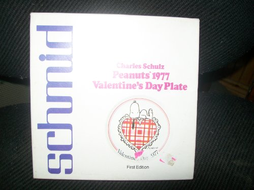 (Charles Schulz First Edition Peanuts 1977 Valentine's Day Plate By Schmid)