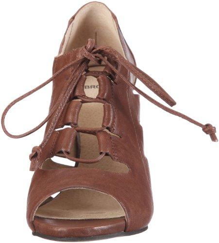 Bronx Coral 37 black 83724-A1 - Sandalias de vestir de cuero para mujer Marrón (Braun/Cacao)