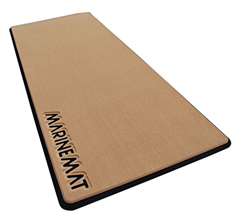 Anti-Fatigue Boat Mat by Marine Mat-New (Toffee/Black, No Border, Small)