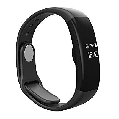 LQM EX2 Fitness Tracker Health Smart Bracelet Sleep Heart Rate Monitor Bluetooth Pedometer Sport Wristband(Black)