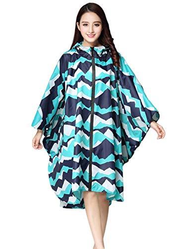 Targogo Color De Hellblau Dots Chaqueta Capucha Impermeable Rain Impermeables Libre Con Modernas Flowers Aire Mujeres Sólido Regneponcho B7wPaqrB