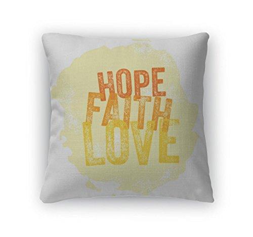 Gear New Vintage Christian Hope, Faith, Lo Throw Pillow, Poplin, 26x26, GN18588 by Gear New