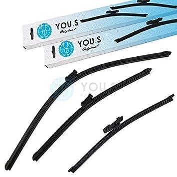 YOU.S 510955427 Limpiaparabrisas Set Delantero+Trasero 280+650 ...