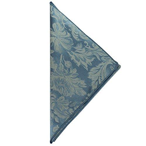 Ultimate Textile -1 Dozen- Miranda 17 x 17-Inch Damask Cloth Napkins Slate Blue