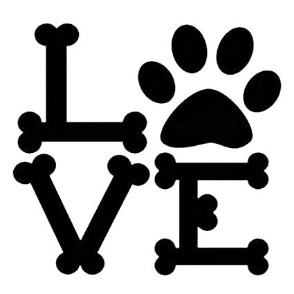 Amazon com: Dog Bone Love Sign Stencil Mylar Animals Dogs Stencils