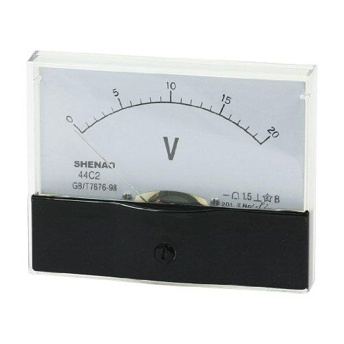 Rectangular Panel Volt Test DC0-20V Scale Volt Meter Gauge 44C2: Amazon.co.uk: DIY & Tools