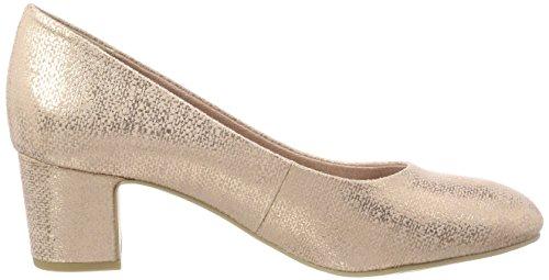 Mujer Rose Marco Tozzi de Zapatos Tacón 22426 para Metallic Rosa wpBqUBgxv