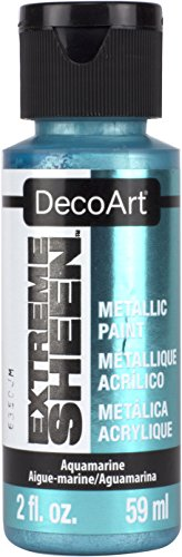DecoArt DPM16-30 Aquamarine Extreme Sheen Paint, 2 oz (Sheen Metallic Finish)