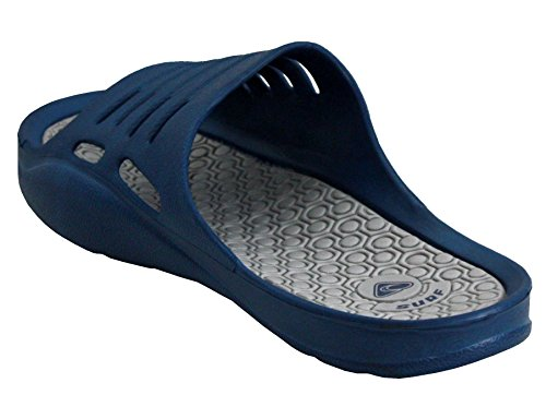 Mens Pool UK Sandals Sliders Toe Footwear 6 Slip On amp;H A Flip Open Shoes 11 Beach Lightweight EVA Sizes Navy Mules Summer Casual Flops ATPxE7Hqw