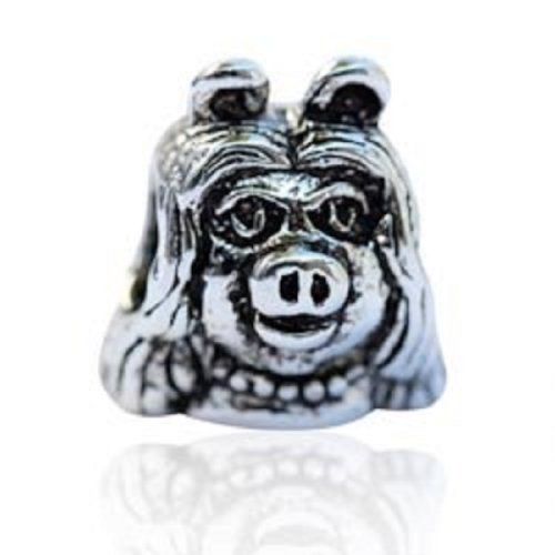 Eveserose Tm Silver Quot Miss Piggy Muppets Quot Bead Sterling