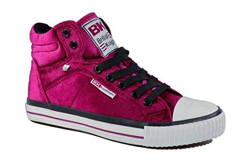 British Knights Damen High Top Sneaker DEE Velvet Cherise
