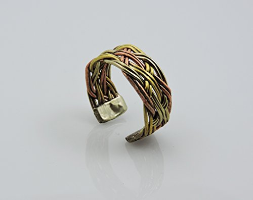 Handmade Twisted Three Metal Medicine/ Healing Ring From Nepal