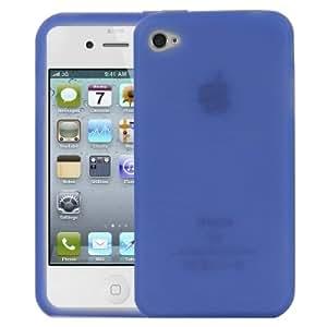Logotrans Design Series - Carcasa de silicona para iPhone 4, color azul oscuro