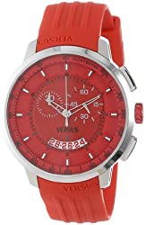 Versus by Versace Men's SGV020013 Manhattan Red Rubber Chronograph Tachymeter Date Watch