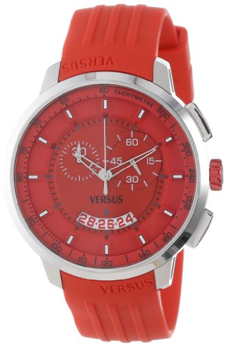 Versus-by-Versace-Mens-SGV020013-Manhattan-Red-Rubber-Chronograph-Tachymeter-Date-Watch
