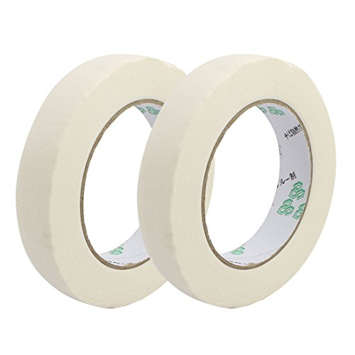 uxcell 2pcs Adhesive Paper Painting Writing Decoration Tape White 2.0cm x 50M Length by uxcell