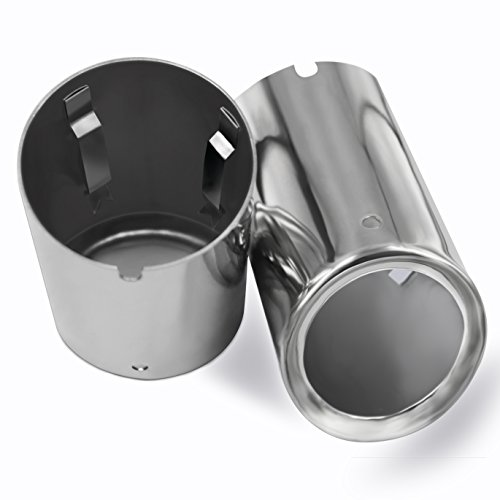 (Fashion Auto Parts Chrome Stainless Steel Exhaust Muffler Tip Pipes for VW Volkswagen JETTA MK6 2009-2015)