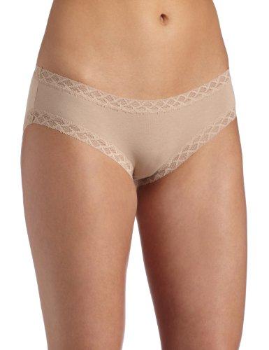 Natori Women's Bliss Cotton Girl Brief Panty,Café,Large