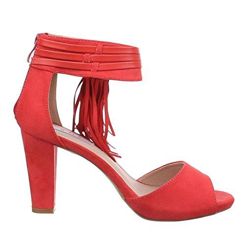 Ital-Design - Sandalias / Sandalias Mujer Rojo - Coral Rot