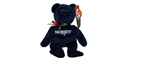 Image Unavailable. Image not available for. Color  NFL New England Patriots TY  Beanie Baby Teddy Bear ... 476d274fc