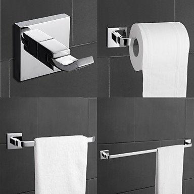 MEI Bathroom Accessory Set Chrome Wall Mounted Brass Contemporary