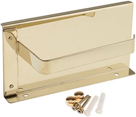 Fenteer ウォールマウント ステンレススチール トイレット ペーパーペーパーホルダー 電話棚 実用的 便利性 50個
